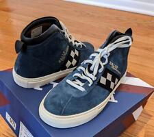 "$475 Mens Authentic Bally ""Vita Parcours"" Retro Calf Suede Sneakers Ocean US 13"