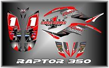 Yamaha raptor 350 YFM350 SEMI CUSTOM GRAPHICS KIT COORS