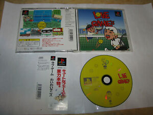 Love Game's Wai Wai Tennis Playstation PS1 Japan import + spine US Seller