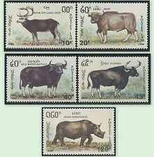 LAOS N°981/985**  Herbivores, cerf, buffle,... 1990, Animals  Sc#1015A-1015E MNH