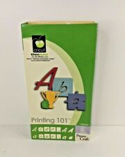 Cricut Cartridge - Printing 101 - Font  Phrases School Puzzle Craft - Unlinked