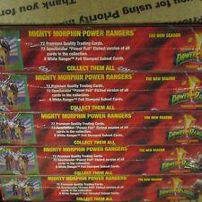 8 BOX LOT New Season Mighty Morphin Power Rangers Collect-A-Card FACTORY SEALED