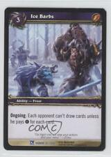 2009 World of Warcraft TCG: Fields Honor Booster Pack Base 35 Ice Barbs Card 1i3