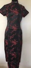 Vintage Chinese Party Dress Black / Red Size XL 12 New With Defect