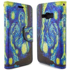 for Samsung Galaxy J1 Ace Wallet Case - Starry Night Design Folio Phone Pouch
