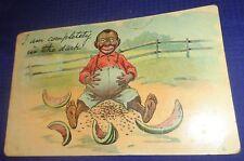 SE937 Vtg Black Americana Postcard Greeting Card Reesor Markham ON