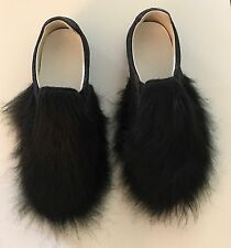 Maison Martin Margiela Black Glitter Fur Shoes Size 8.5