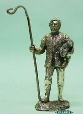 Vintage Silver Plated Shepherd Miniature Figural Figurine