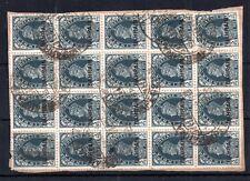 Bahrain KGVI 1938 3p slate SG20 large fine used block on piece CV £160 WS10919
