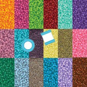 Miyuki Delica 11/0 7 grams 1200 Glass Seed Beads Duracoat 40 colors U Pick