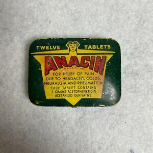 Vintage! ANACIN TIN