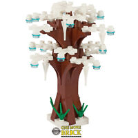 Winter Tree - White leaves, snow & icicles - 13cm tall | All parts LEGO
