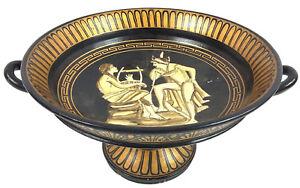 Vintage Greek Compote Terra Cotta Art Pottery Community Wine Cup