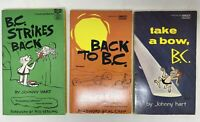 Lot of 3 Vintage B.C. Comic Novels by Johnny Hart Fawcett Gold Medal Very Good