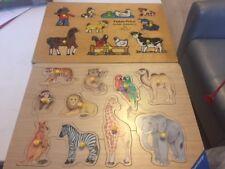 LOT / puzzles en bois en excellent état