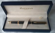 Waterman Hemisphere Matte Black with Gold Trim Fountain Pen Med. nib. S0920730