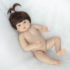 "23"" Reborn Baby Full Body Silicone bebe Girl Doll Vinyl Lifelike Newborn Gift"