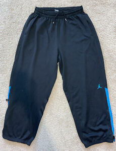 Nike Jordan Sweat Pants Dri-Fit Size XXL Black Blue EUC training basketball
