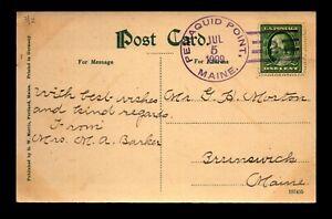 1909 Pemaquid Point Doane Crisp Cancel Card - L29578