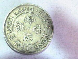 Hong Kong 50 cents King George VI 1951