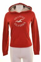 HOLLISTER Womens Hoodie Jumper Size 10 Small Red Cotton  HV04