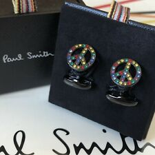 PAUL SMITH Peace Signs Cufflinks ~ NEW in Box ~ Genuine
