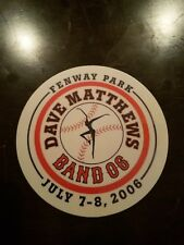 Dave Matthews Band Sticker Fenway Park July 7-8 2006 Boston Red Sox Rare DMB 4in