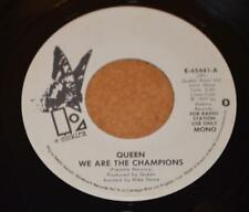 QUEEN US White Label Promo 45 MONO/STEREO We Are The Champions with Pic Sleeve