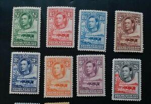 BECHUANALAND 1938 0.5d to 2s6d SG 118 - 124 126 Sc 124 - 130 133 MNH