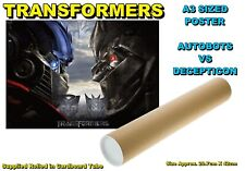 TRANSFORMERS A3 SIZED POSTER MOVIE STYLE OPTIMUS PRIME - BRAND NEW (#F)
