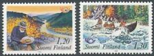 Finland 1983 MNH Set of 2 Norden Stamps - Lapland - Gold Panning - Rafting