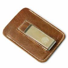 Mens Luxury Money Clip Wallet Genuine Leather Slim Bills Thin Holder Billfold