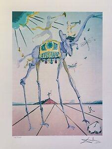 "Salvador Dali CELESTIAL ELEPHANT Facsimile Signed & Numbered Giclee Art 17 x 13"""