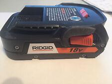 NEW - Latest Ridgid 2.0AH 18V Battery Lithium Model 18 VOLT X4