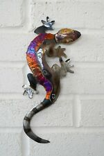 Handmade Recycled metal Lizard wall hanging decoration