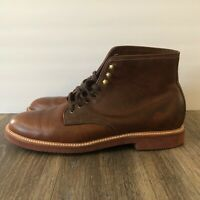 J Crew Kenton Boots Plain Round Toe Size 13 Burnished Tobacco Brown Leather