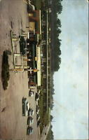 Clarion PA Rhea's Motel Gas Service Station 1940s-50s Cars Postcard