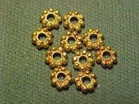 Sassanian solid gold decorative bead circa 224-642 AD