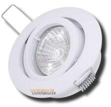 10er Set Einbaustrahler Einbauleuchte Tino 230V - Weiß - Halogen Gu10 Spotlights