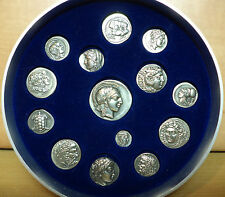 VHTF GREEK ANCIENT HANDMADE SILVER 925 COINS COLLECTION