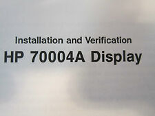HP 70004A Color Display Operation Manual