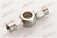 "Stainless Steel 10.2mm 3/8"" Eye Banjo to Double AN-3 Hose End Brake Fittings"