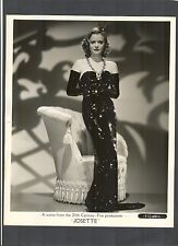 SEXY SIMONE SIMON IN ARM LENGTH GLOVES - GREAT 1937 PHOTO - CAT PEOPLE STAR