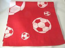 Unisex Head Band Bandanna Soccer Pattern Red white Flat Soccer Ball Futbol