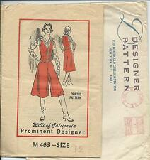 Willi of California sewing pattern CULOTTES BLOUSE VEST sew Famous 70's Designer