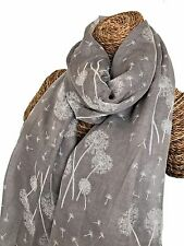 DANDELION SCARF LADIES SCARF WITH NEW DANDELIONS DESIGN SUPERB QUALITY 6 COLOURS
