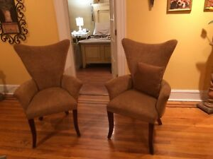 Dining Chairs Set of 2 Fabric Upholstered Lounge Accent Chair