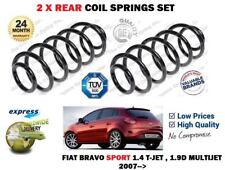 FOR FIAT BRAVO SPORT 1.4 TJET 1.9D MULTIJET 2007->NEW 2X REAR COIL SPRINGS SET