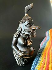 Old Balinese Silver Inlaid Carved Box Wood Kris or Keris Dagger Handle…