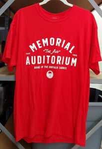 Stadium Giveaway MEMORIAL AUDITORIUM The AUD Promo Buffalo SABRES Red SHIRT L